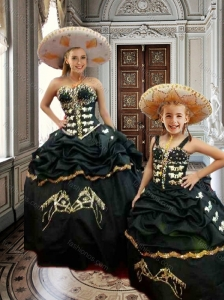 Classical Puffy Skirt Embroidered and Beaded Princesita Quinceanera Dresses in Taffeta