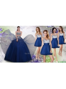 New Arrivals Beaded Tulle Quinceanera Dress and Exquisite V Neck Sequined Dama Dresses