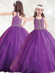 Beautiful Straps Big Puffy Mini Quinceanera  Dress with Beading and Appliques