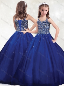New Arrivals Straps Royal Blue Mini Quinceanera  Dress with Beading