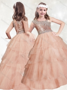 New Style Beaded and Ruffled Layers Mini Quinceanera Dress with Asymmetrical