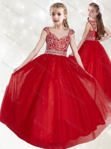 Classical Straps Cap Sleeves Mini Quinceanera  Dress with Beading
