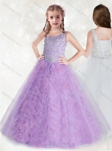 Gorgeous Straps Sequins Mini Quinceanera Dress with Ruffles Inside