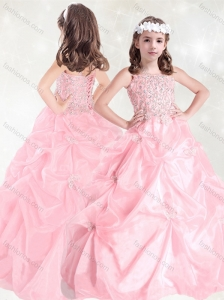Luxurious Beaded and Pick Ups Mini Quinceanera  Dress with Straps