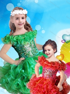 025f2c3bad1 Affordable Scoop Cap Sleeves Little Girl Mini Quinceanera Dress with Beading  and Ruffles  US  102.2960