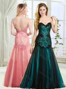 Top Selling Mermaid Beaded and Laced Modest Prom Dress in Tulle