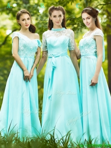 2016 Lovely Chiffon Empire Long Mother of the Bride Dresses  in Apple Green