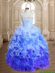 Exclusive Beaded and Ruffled Sweet 16 Dress in Rainbow