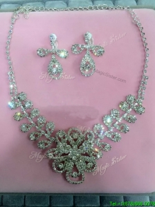 Gorgeous Ladies Jewelry Set with Rhinestone and Alloy
