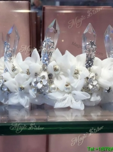 Beautiful Wedding Tiara with Rhinestone and Imitation Pearls