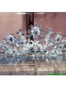 Classical Tiaras with Rhinestone with Imitation Pearls