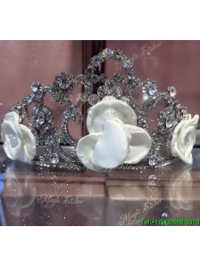 Fashionable Tiara with Shining Rhinestones