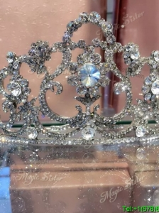 Wonderful Beaded and Rhinestoned Wedding Tiara