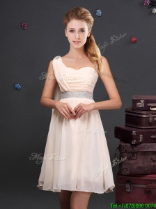 Designer Empire Chiffon Dama Dress with Sequined Decorated Waist