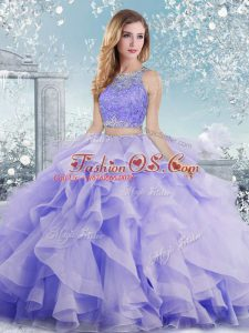 Best Sleeveless Clasp Handle Floor Length Beading and Ruffles Quinceanera Gowns
