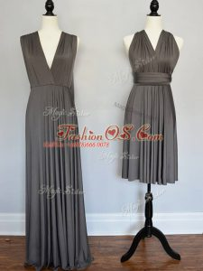 Beauteous Sleeveless Lace Up Floor Length Ruching Court Dresses for Sweet 16
