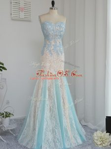 Hot Selling Mermaid Prom Party Dress Multi-color Sweetheart Tulle Sleeveless Floor Length Zipper