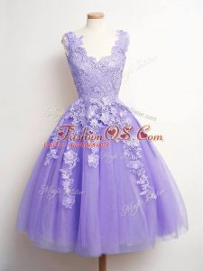 Attractive Sleeveless Lace Lace Up Wedding Guest Dresses
