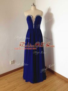 Sleeveless Beading Side Zipper Quinceanera Court Dresses