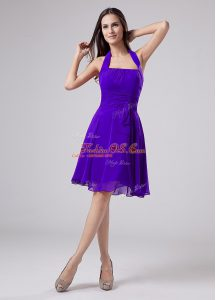Chiffon Sleeveless Knee Length Mother Of The Bride Dress and Ruching
