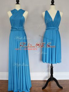 Free and Easy Chiffon Sleeveless Floor Length Wedding Guest Dresses and Ruching