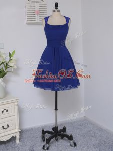 Excellent Royal Blue Straps Zipper Lace Court Dresses for Sweet 16 Sleeveless