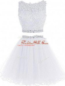 Captivating Sleeveless Beading and Lace and Appliques Zipper Evening Dress