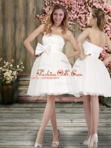 Best Selling White Backless Off The Shoulder Sashes ribbons Wedding Gowns Chiffon Sleeveless