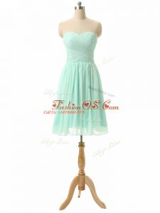 Pretty Knee Length Apple Green Wedding Guest Dresses Sweetheart Sleeveless Lace Up