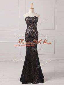 Floor Length Black Mother Of The Bride Dress Sweetheart Sleeveless Zipper