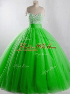 Free and Easy Floor Length Lace Up Sweet 16 Dresses for Sweet 16 and Quinceanera with Beading