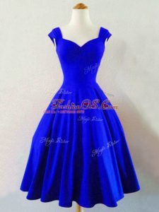 Custom Design Sleeveless Ruching Lace Up Wedding Guest Dresses