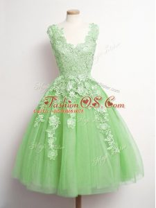 1cb59aab587 High Quality Yellow Green Sleeveless Tulle Lace Up Quinceanera Dama Dress  for Prom and Party and Wedding Party  US  66.5500