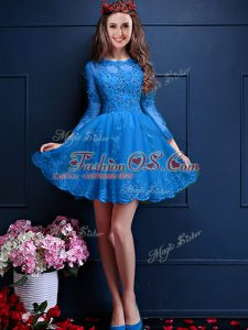 Exquisite 3 4 Length Sleeve Beading and Lace and Appliques Lace Up Damas Dress
