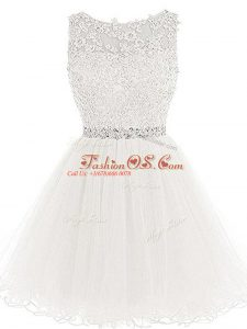 Discount Sleeveless Beading and Lace and Appliques Lace Up Cocktail Dress