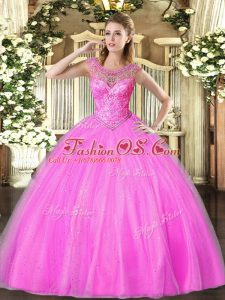 Decent Floor Length Ball Gowns Sleeveless Lilac Quinceanera Gowns Lace Up
