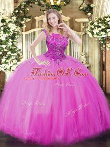 Sleeveless Zipper Floor Length Beading Quinceanera Dresses