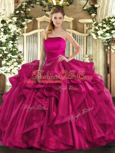 Elegant Sleeveless Ruffles Lace Up Sweet 16 Quinceanera Dress