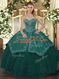 Affordable Sleeveless Beading Lace Up Vestidos de Quinceanera