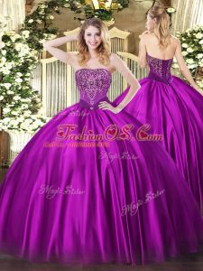 Enchanting Sleeveless Lace Up Floor Length Beading Sweet 16 Quinceanera Dress