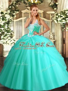 Artistic Sleeveless Lace Up Floor Length Beading and Pick Ups 15 Quinceanera Dress