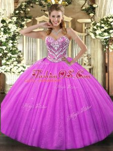 Extravagant Sleeveless Lace Up Floor Length Beading 15 Quinceanera Dress