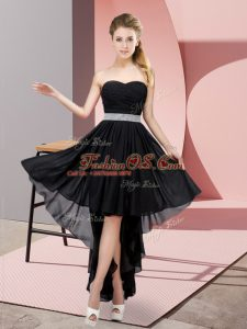 Black Sweetheart Lace Up Beading Prom Gown Sleeveless