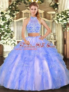 Exquisite Strapless Sleeveless Tulle Quinceanera Gown Beading and Ruffled Layers Criss Cross