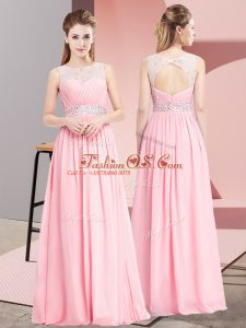 Stunning Chiffon Sleeveless Floor Length and Beading