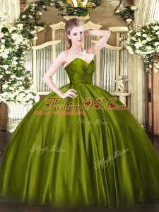 Organza Sleeveless Floor Length Quinceanera Gowns and Ruching
