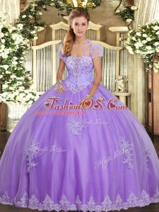 Sleeveless Appliques Lace Up Sweet 16 Quinceanera Dress