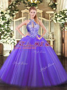 Popular Sleeveless Lace Up Floor Length Sequins Vestidos de Quinceanera