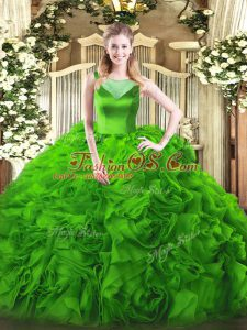 Stylish Scoop Side Zipper Beading Quinceanera Gowns Sleeveless
