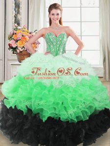 Floor Length Multi-color Quinceanera Gowns Sweetheart Sleeveless Lace Up
